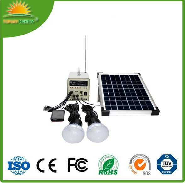 10w 18V off-grid with FM radio and MP3 function cheap wholesale prices for small <strong>solar</strong> <strong>solar</strong> lighting energy home power system