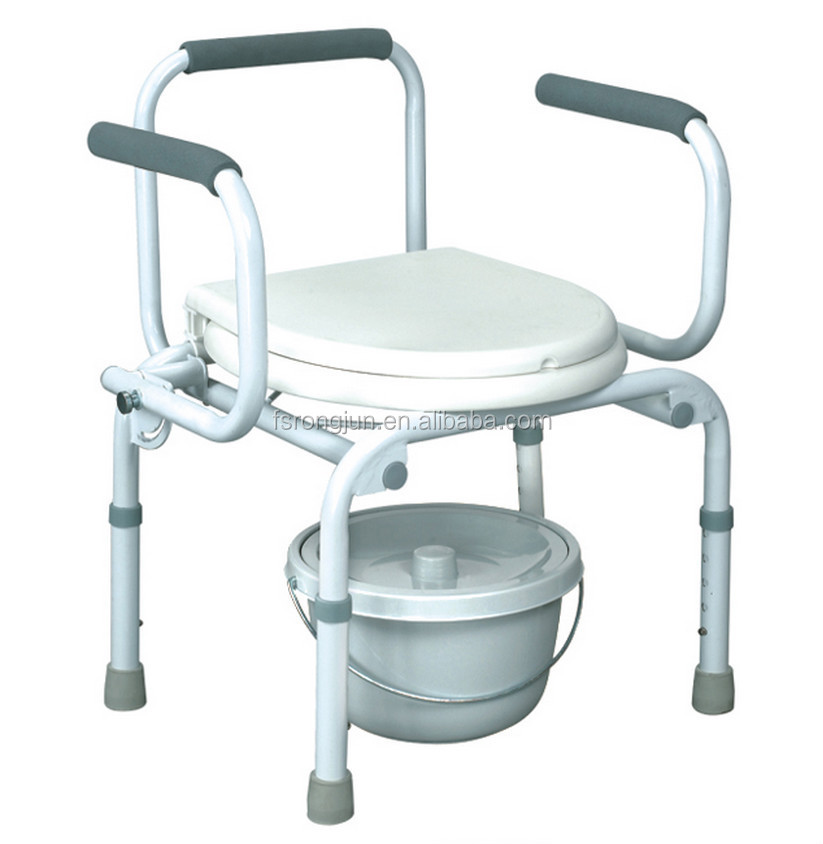 Hospital Elderly Folding Commode Chair Potty Chair Toilet Chair RJ C525 2