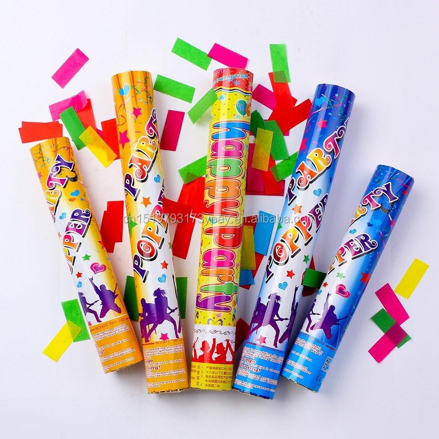 High Quality party popper confetti cannon with colorful tissue paper