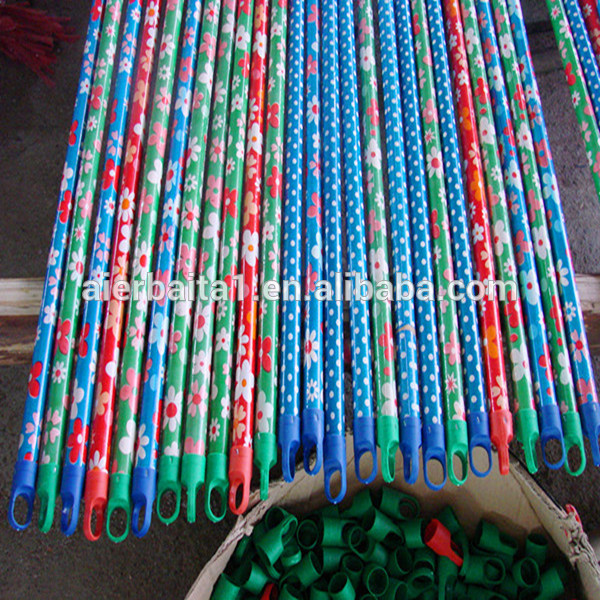 TOP QUALITY natural wooden broom handle ,wooden shovel handle, stick wood PP colorful broom