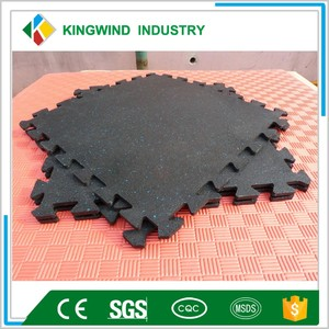 factory supply 1 inch thick rubber floor mat with Trade Assurance