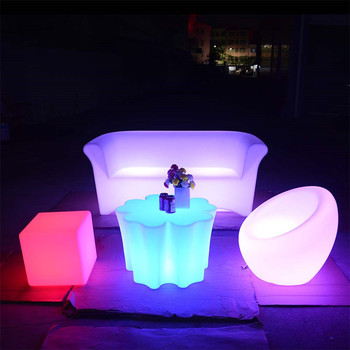 light up furniture outdoor wholesale nightclub led furniture set sectional sofas chair table with lighting