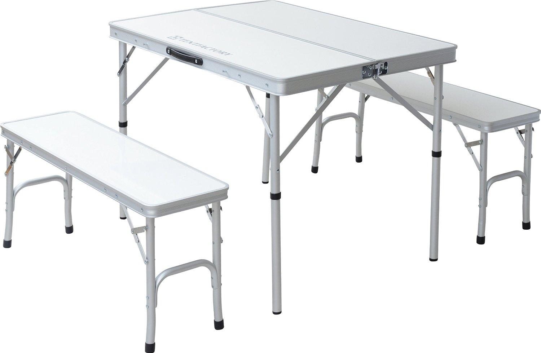 TENT FACTORY (tent factory) Dual table separate set white table (90 ~ 65 ~ 68 (35) cm) chair (87 ~ 25 ~ 40cm) ~ 2 leg TF-DFS9065-3-WH