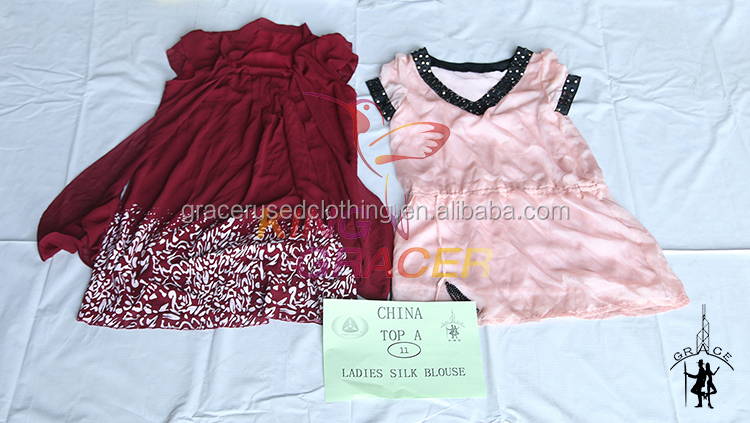 Cheapest Recycling In Bales Women Silk Blouse Used Baby Clothes