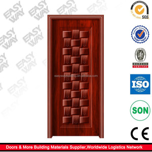 Solid Ash Wood Door with newest Indian Style good for hotel and project