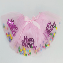Happy birthday tutu dress kids ballet girls