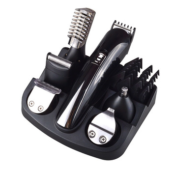6 in 1 Rechargeable Hair Trimmer Titanium Hair Clipper Electric Shaver Beard Trimmer Men Styling Tools Shaving Machine