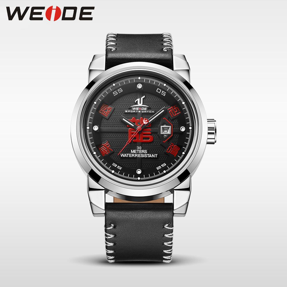 de0c92580a7f Weide reloj para hombres 30 metros resistente al agua relojes de cuarzo  nueva llegada correa de