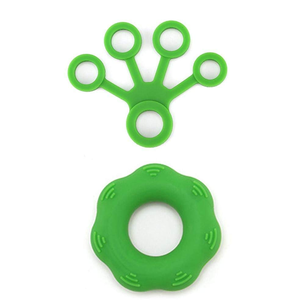 KOBWA Exercise Hand Grips, Finger Strengthener Grip Ring & Finger Stretcher -Resistance Levels - Easy, Medium, Heavy - Increase Strength, Improve Dexterity & Speed Up Recovery