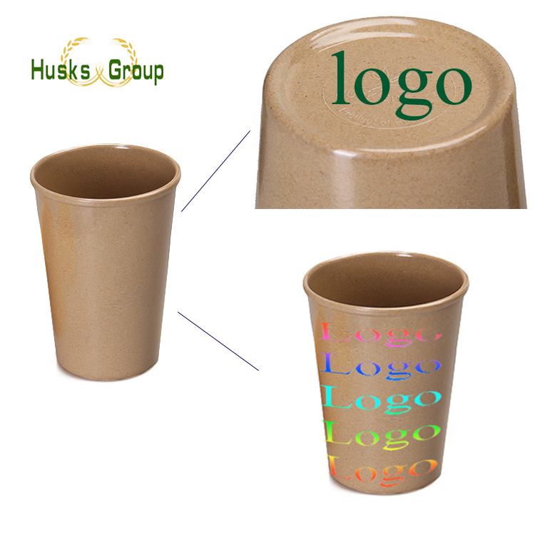 Eco-friendly customized Reusable rice husk materia fiber cup