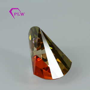 Machine cut multicolor irregular cubic zirconia cz stone for jewelry