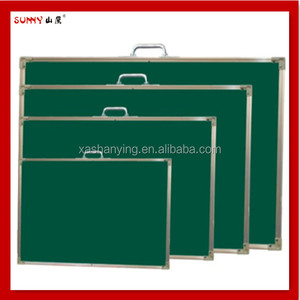 Aluminum frame bulletin board, notice green board
