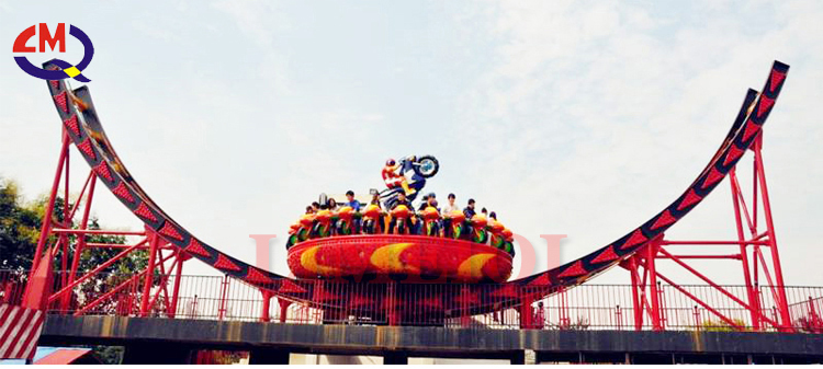 Theme park rides flying ufo games with LED lights