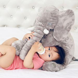 Zogift cheap colorful baby 3D animal elephant pillow