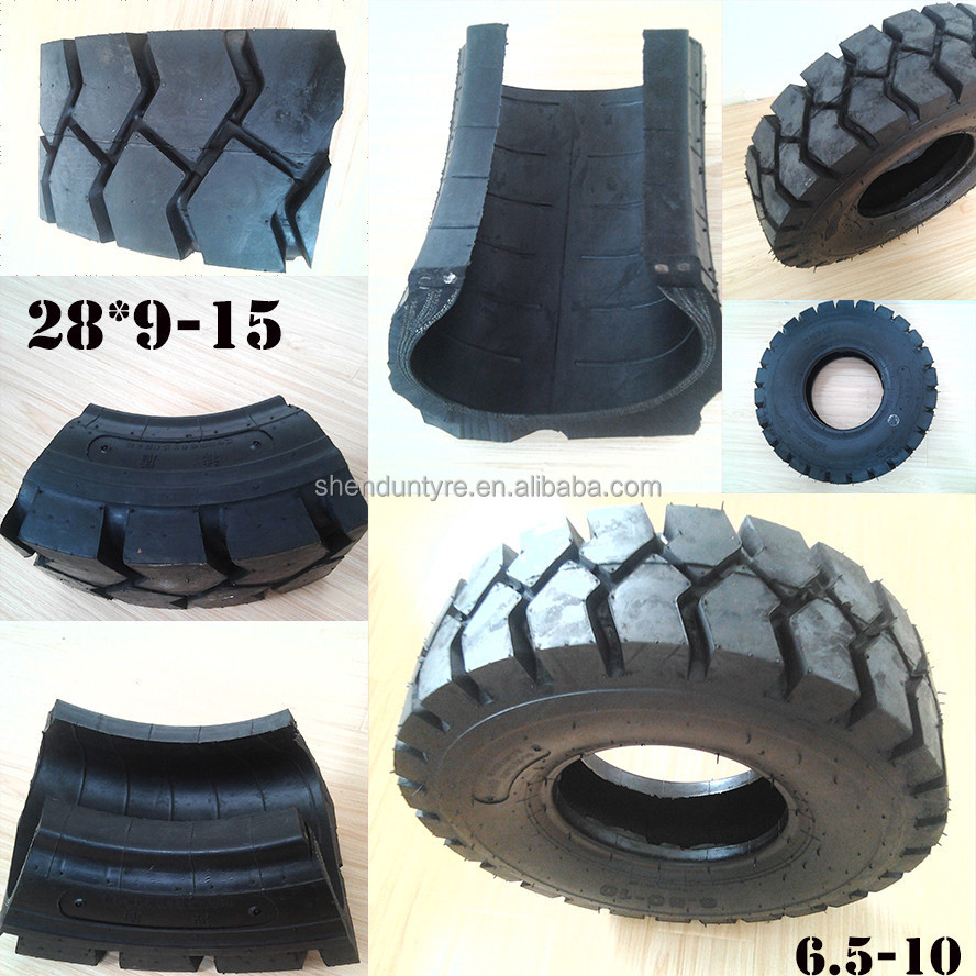 tyre factory lowest price solid forklift tires 28*9-15, Industrial forklift Tyre 6.5-10, OEM BRAND:GOD WASP&LUCKY FISH