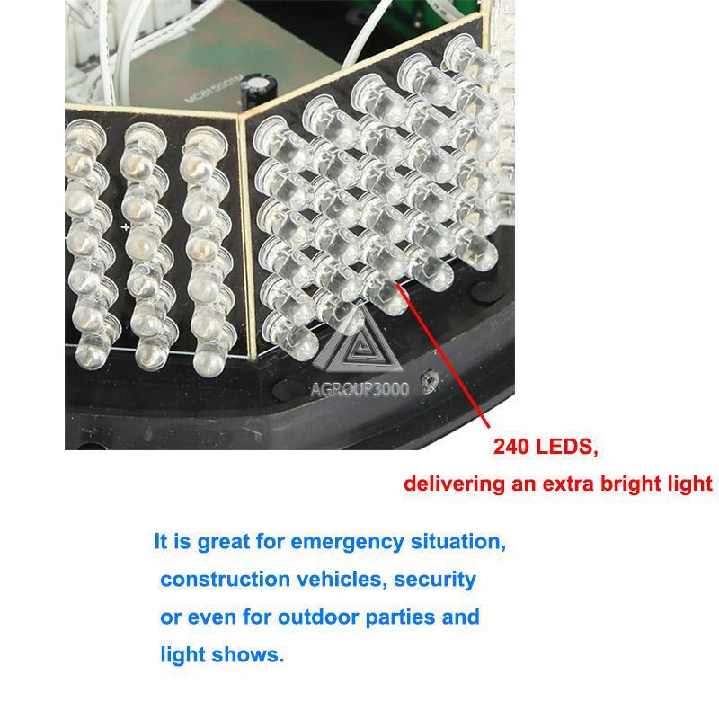 240 из светодиодов автомобиль маяк автомобиля магнитный оповещения о чрезвычайных ситуациях свет Amabr