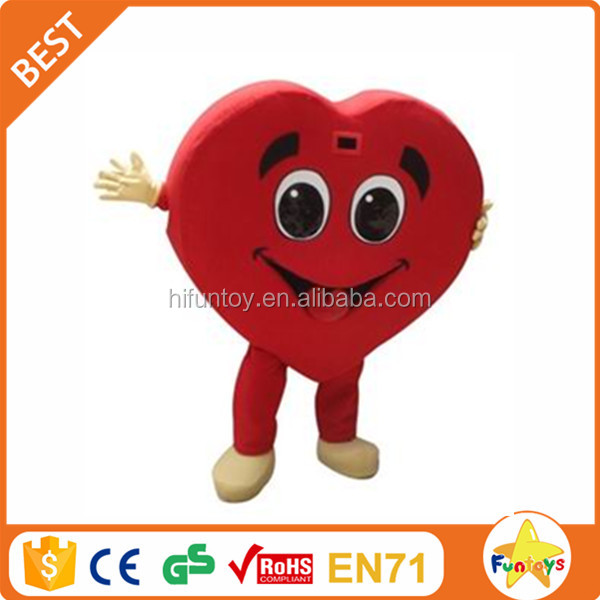 Funtoys CE Valentines's Day Heart Mascot Costume for Adult