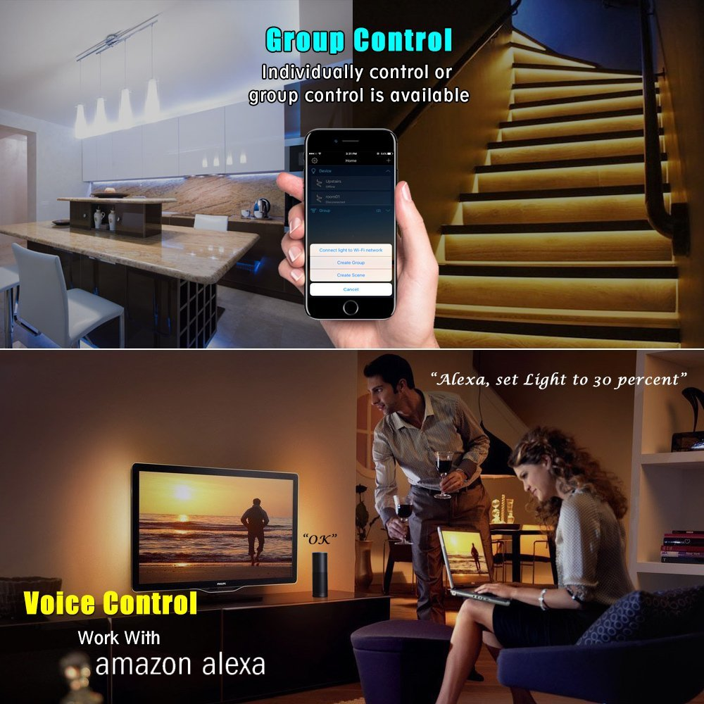 Android IOS Smartphone wireless WIFI Remote color change RGB Cheap led light