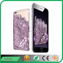 new Angel Wings mobile phone 3D sublimation hard metal case for apple iphone