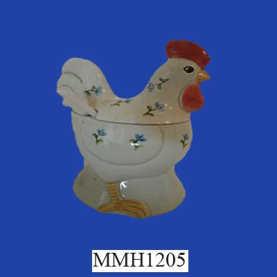rooster ceramic sugar bowl