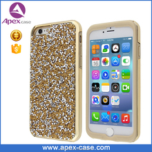unique TPE PC combo all round rhinestone case for iphone 6