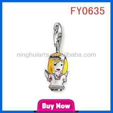 Cartoon character little pendant polish amber jewelry pendant