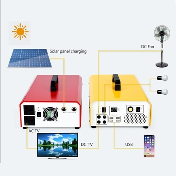 Portable solar off grid system and 220V solar power generator for home