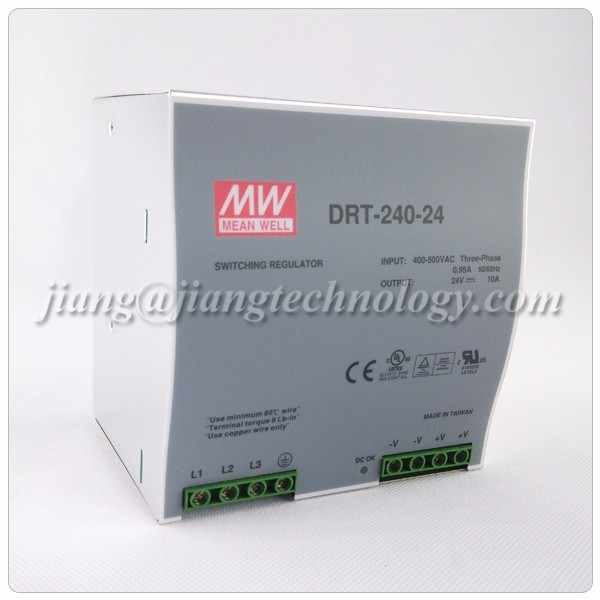 240w Power Supply 24v 10a Drt-240-24 Mean Well Din Rail Smps ...