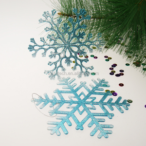 Christmas plastic glittered snowflake ornament Christmas tree decorations