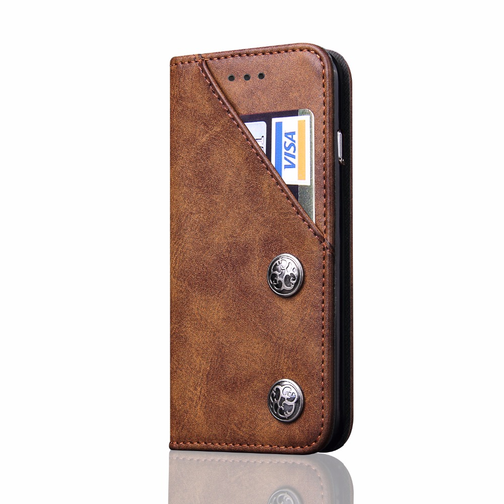 Slim Folio Book Cover PU Leather Magnetic Protective Cover with Credit Card Slots, Cash Pocket, Stand Holder for Apple iPhoneX