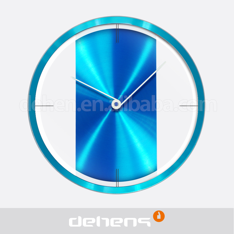 DEHENG 12'' metal colourful oxydic quartz wall clock
