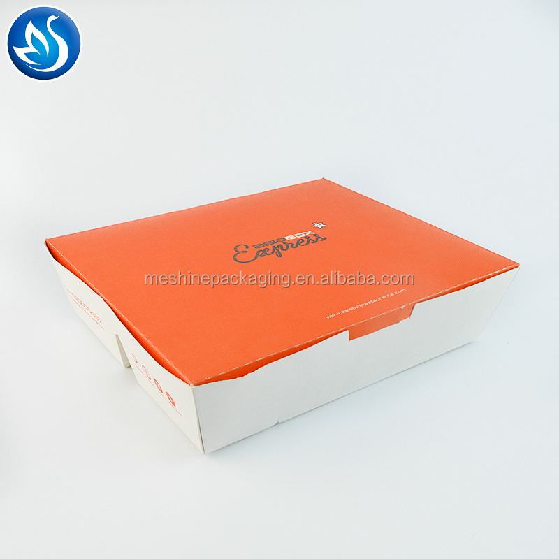 Wholesale Fast Food Disposable Paper Lunch Box with 3 Compartment