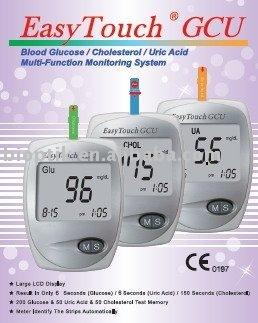 Easytouch Gcu Blood Glucose Cholesterol Uric Acid Meter