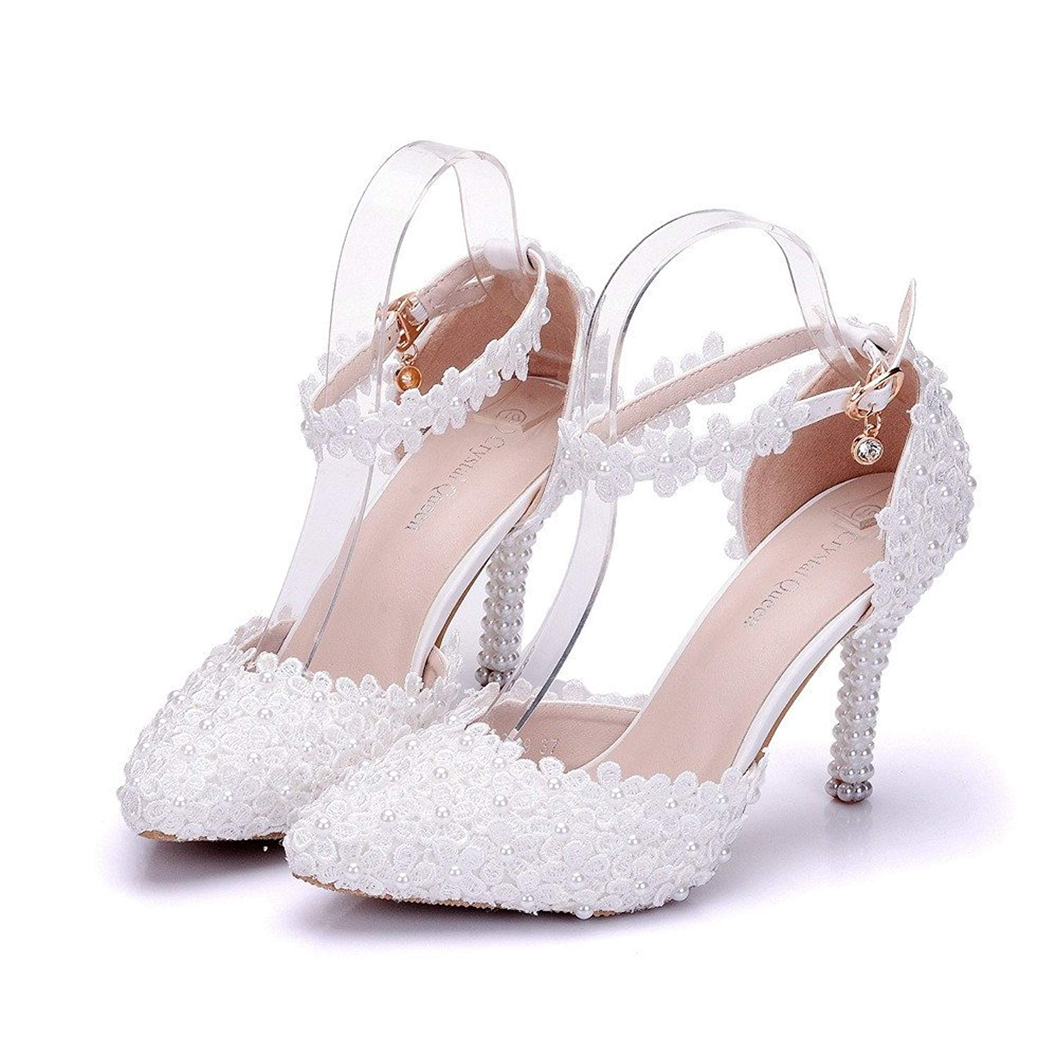 356b4a25860 Get Quotations · HYP Wedding Women Shoes Wedding Shoes Women Pumps Closed  Toe Wedding Party Court Shoes
