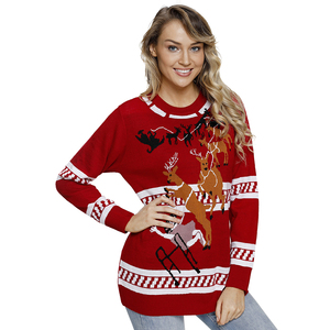 1683860db9 2018 Autumn Winter Christmas Sweater Women Knitted Sweater Christmas  Reindeer Snowflake Tree Patterns Warm Funny Pullover female