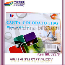 China yiwu fábrica carta colorato 110gsm <span class=keywords><strong>papel</strong></span> da cor