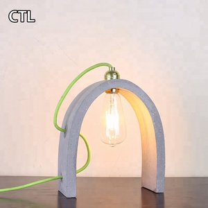 Hotel mini table lamp bridge shaped bedroom modern concrete desk lamp