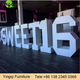 Customized PVC Alphabet Letters Table for Party