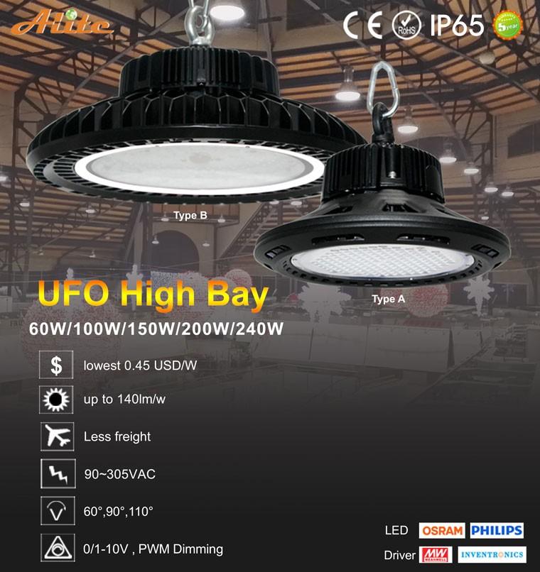 140lm/w Dlc Ufo Led High Bay Light 150w