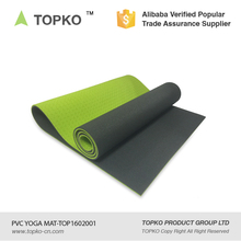 TOPKO wholesale high density anti slip double layer Eco friendly PVC yoga exercise mat