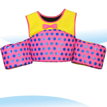 Girls Beautiful Life Jackets Floating Swim Suits with Arm Bands Buoyancy Swimwear