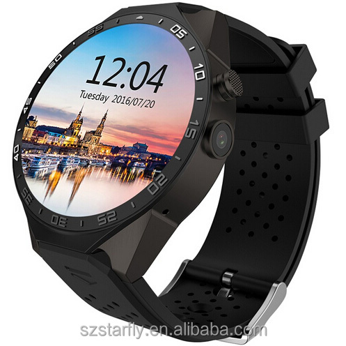 2016 New KW88 Hand mobile watch phone price in pakistan with GPS WIFI 3G WCDMA Android 5.1 system Heart Rate Monitor Quad Core