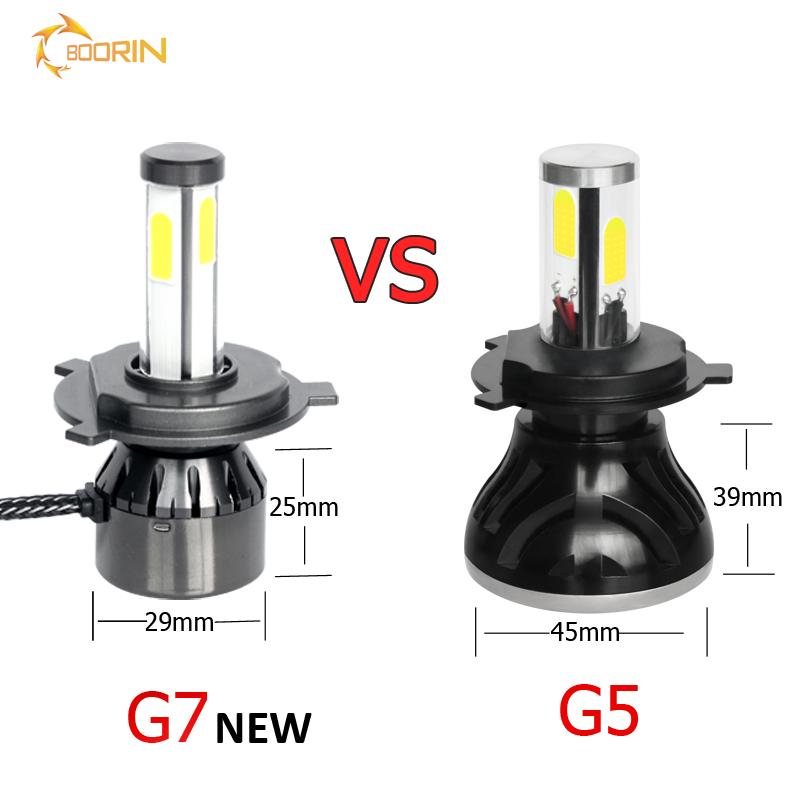 H4 LED Lensa 35 W Super Power Mini H4 LED Lensa Proyektor 6500 Lumen Y6 Proyektor Mini H4 60 W LED Lampu G6 H4 LED Proyektor