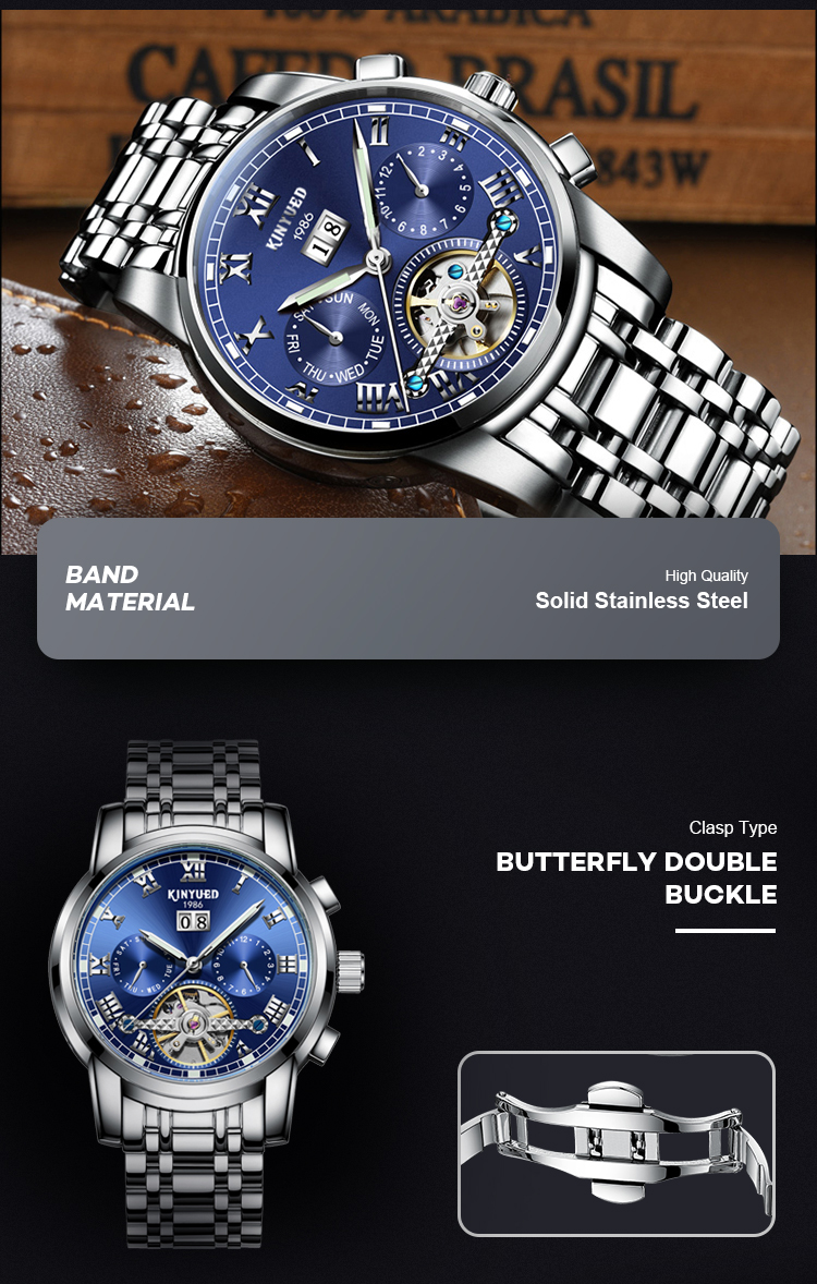 Top Brand --J014 Male Wristwatch Automatic Watches Original Luxury automatic Watch for Man