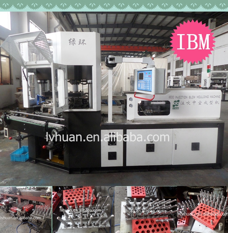 Automatic hdpe/ldpe material injection blow molding machine exported to Iran