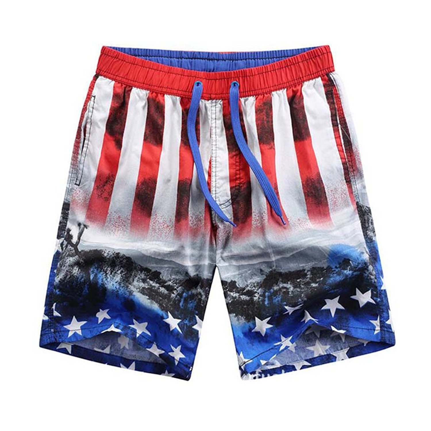 5eeafa5121 OUOK Men's Quick Dry Beach Board Shorts Hot New Summer Short Homme Plus  Size Swimming Shorts