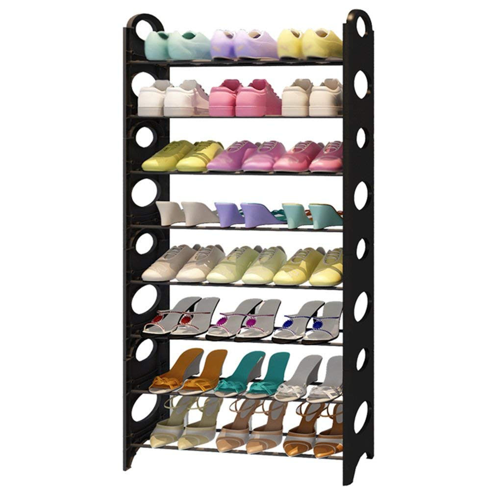 LQQGXL Shoe rack organizer storage, Removable simple shoe rack, multi-layer wrought iron home storage assembly, simple shoe.