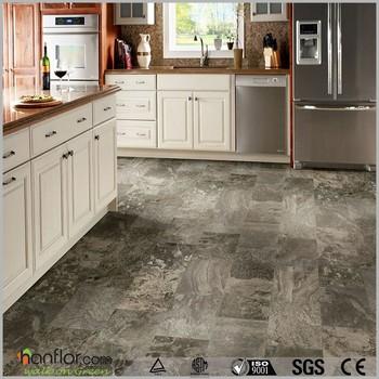 Anti Slip Pvc Floor Tile Waterstone Design Vinyl High Gloss