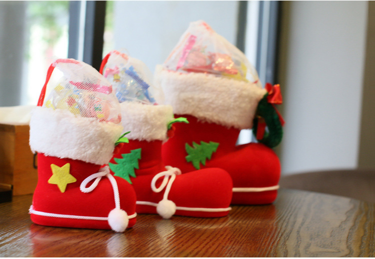 Hot selling gift home boot christmas decor