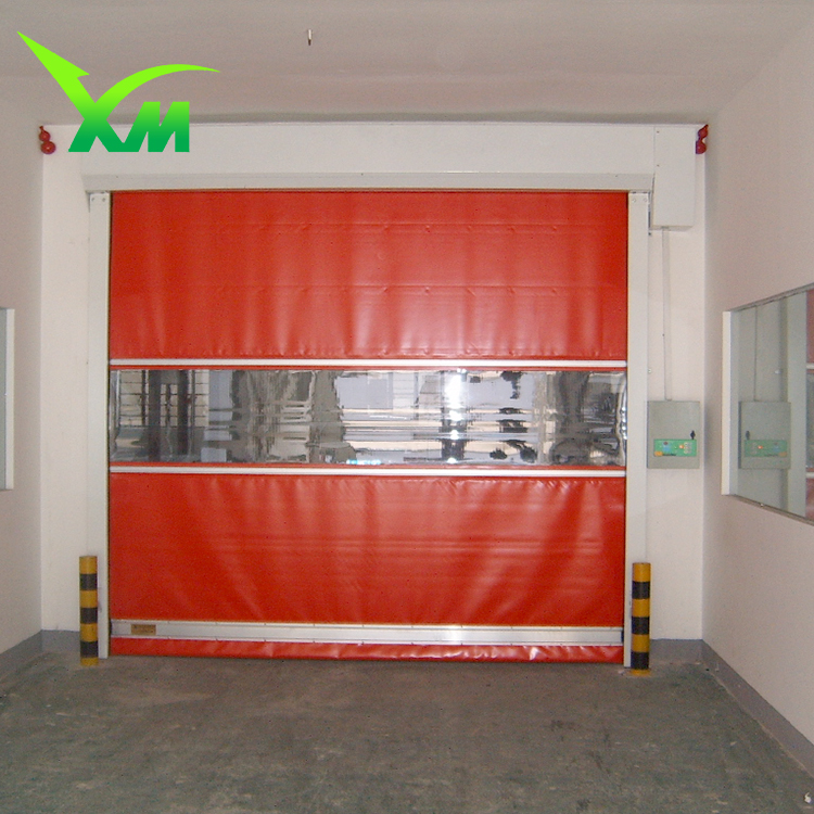 PVC material dust rolling shutters high speed door prices